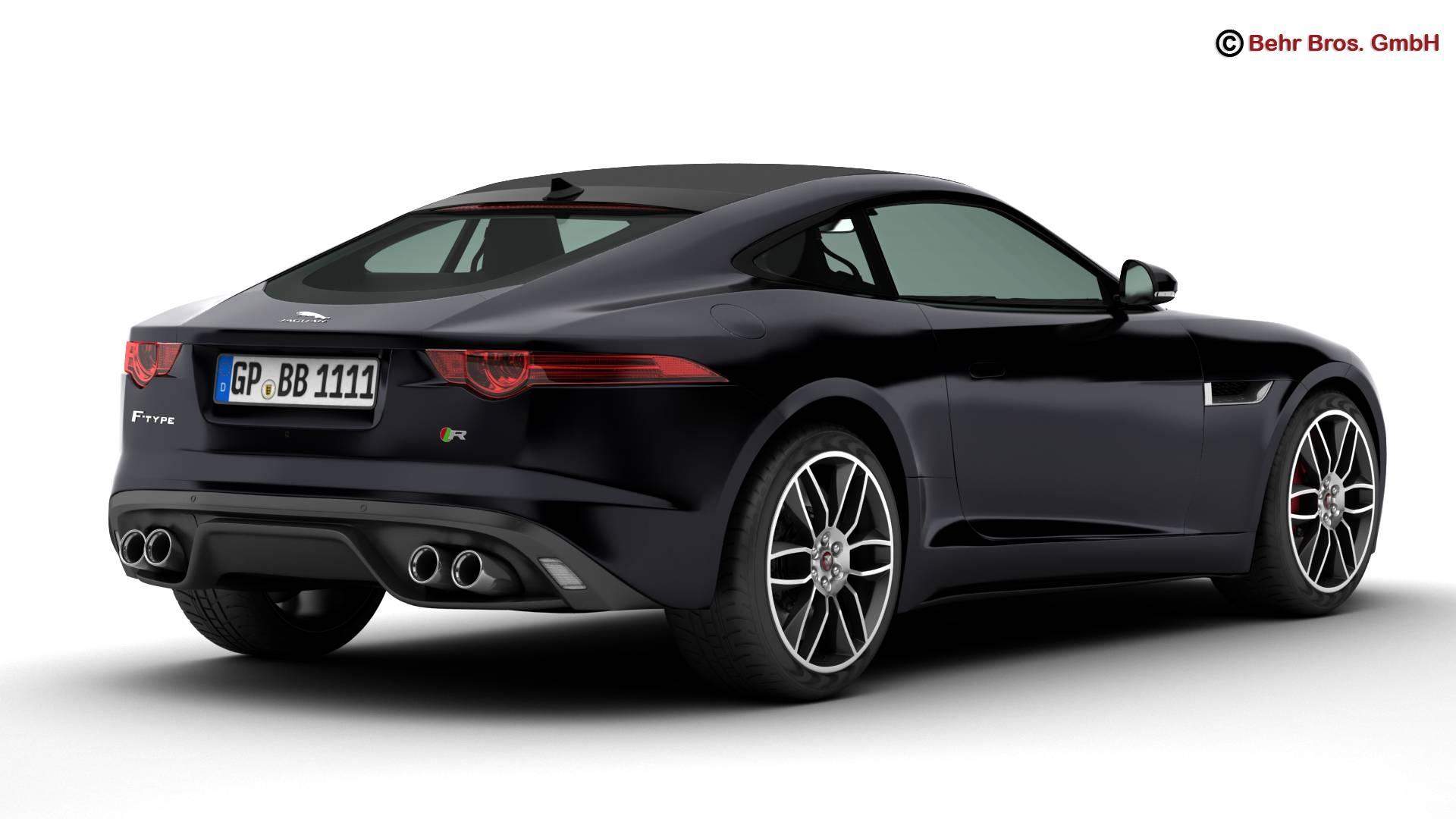 jaguar f type r coupe 2015 3d model 3ds max fbx c4d lwo ma mb obj 212069