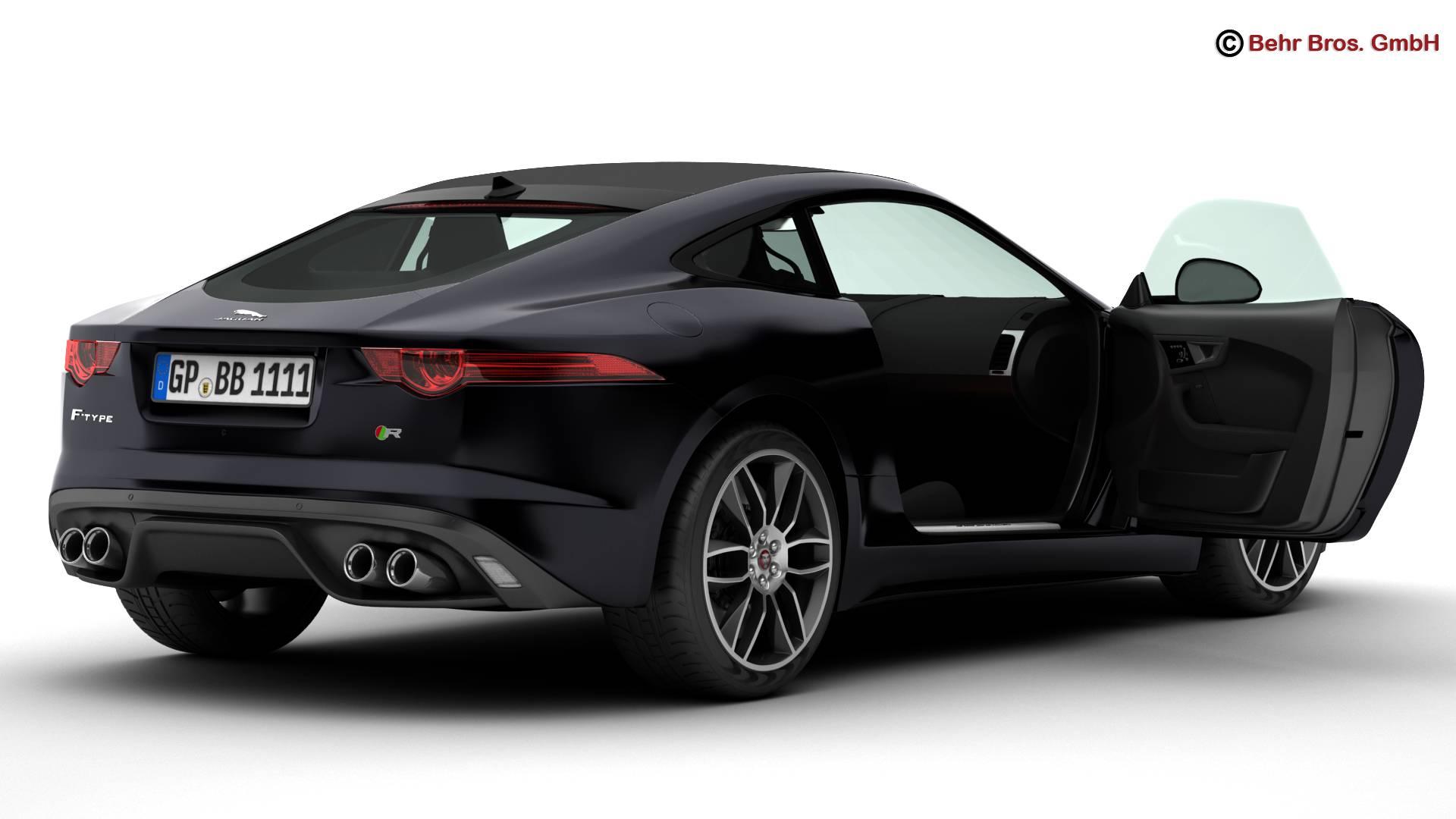 jaguar f type r coupe 2015 3d model 3ds max fbx c4d lwo ma mb obj 212070
