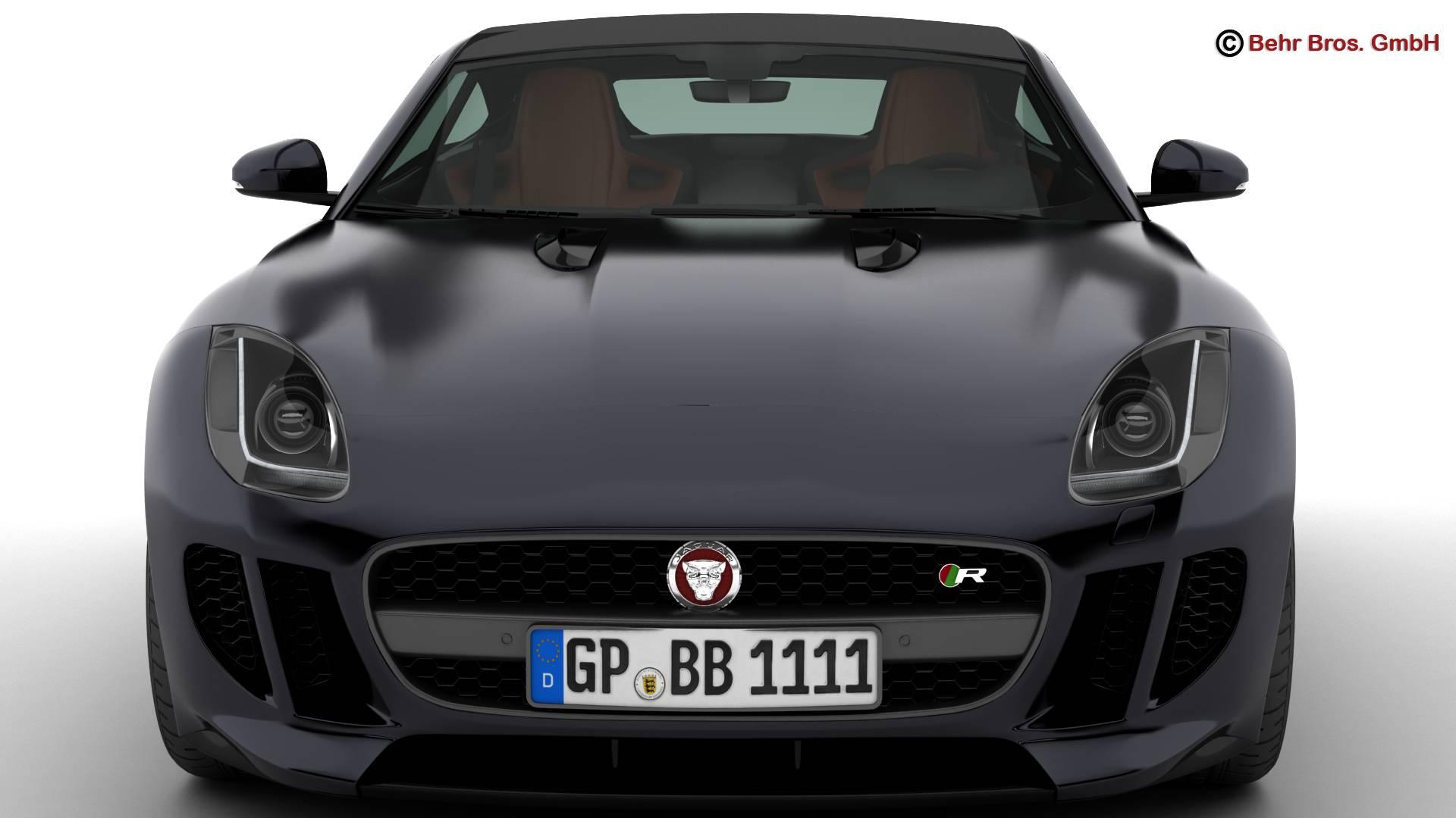 jaguar f type r coupe 2015 3d model 3ds max fbx c4d lwo ma mb obj 212072