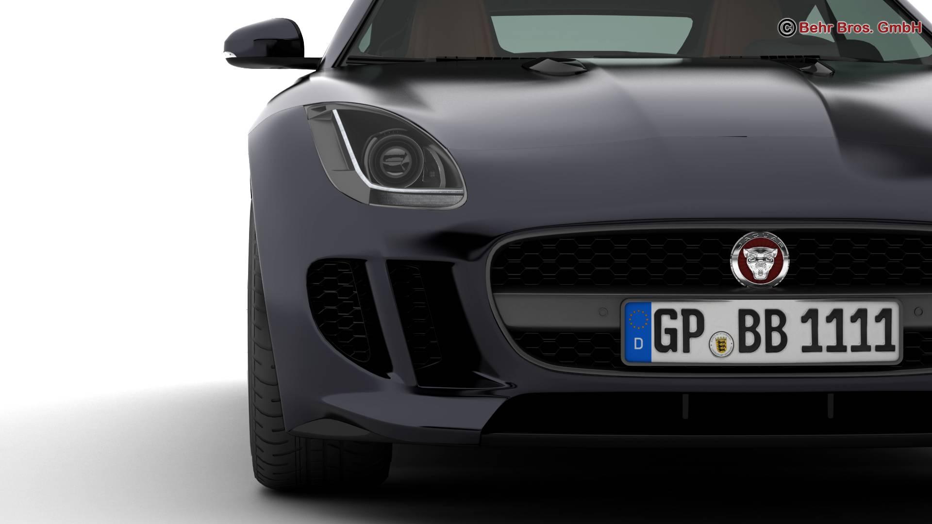 jaguar f type r coupe 2015 3d model 3ds max fbx c4d lwo ma mb obj 212073