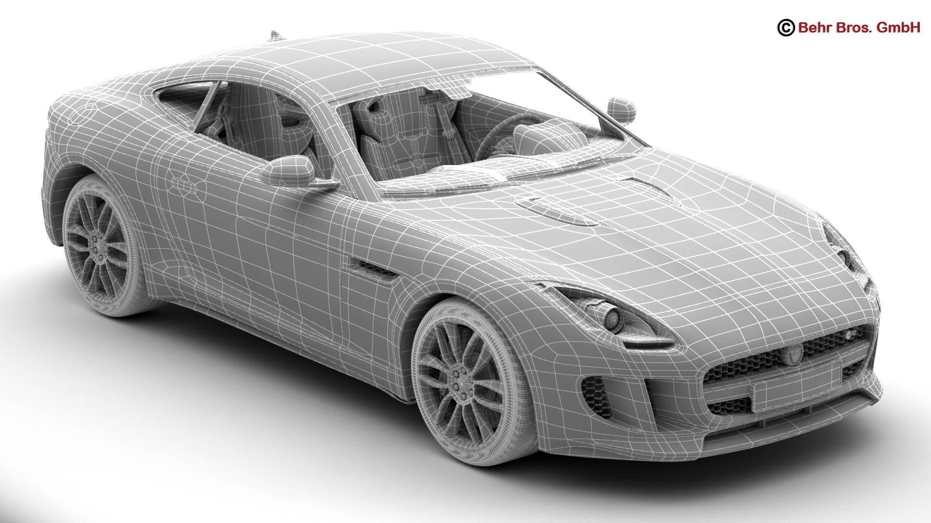 jaguar f type r coupe 2015 3d model 3ds max fbx c4d lwo ma mb obj 212080