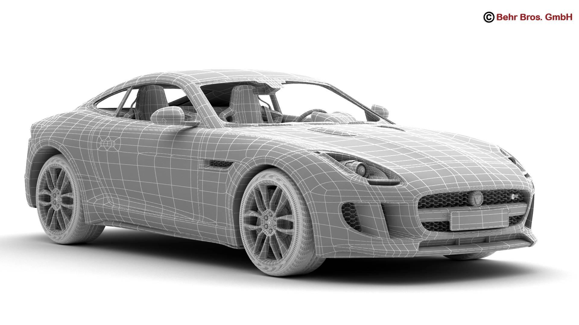 jaguar f type r coupe 2015 3d model 3ds max fbx c4d lwo ma mb obj 212081