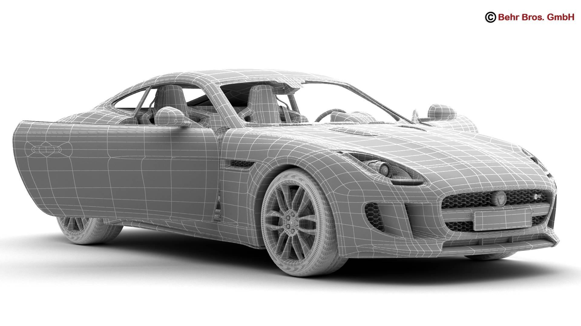 jaguar f type r coupe 2015 3d model 3ds max fbx c4d lwo ma mb obj 212082