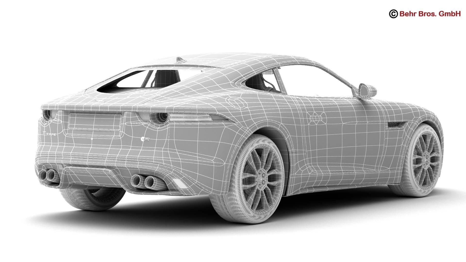 jaguar f type r coupe 2015 3d model 3ds max fbx c4d lwo ma mb obj 212083