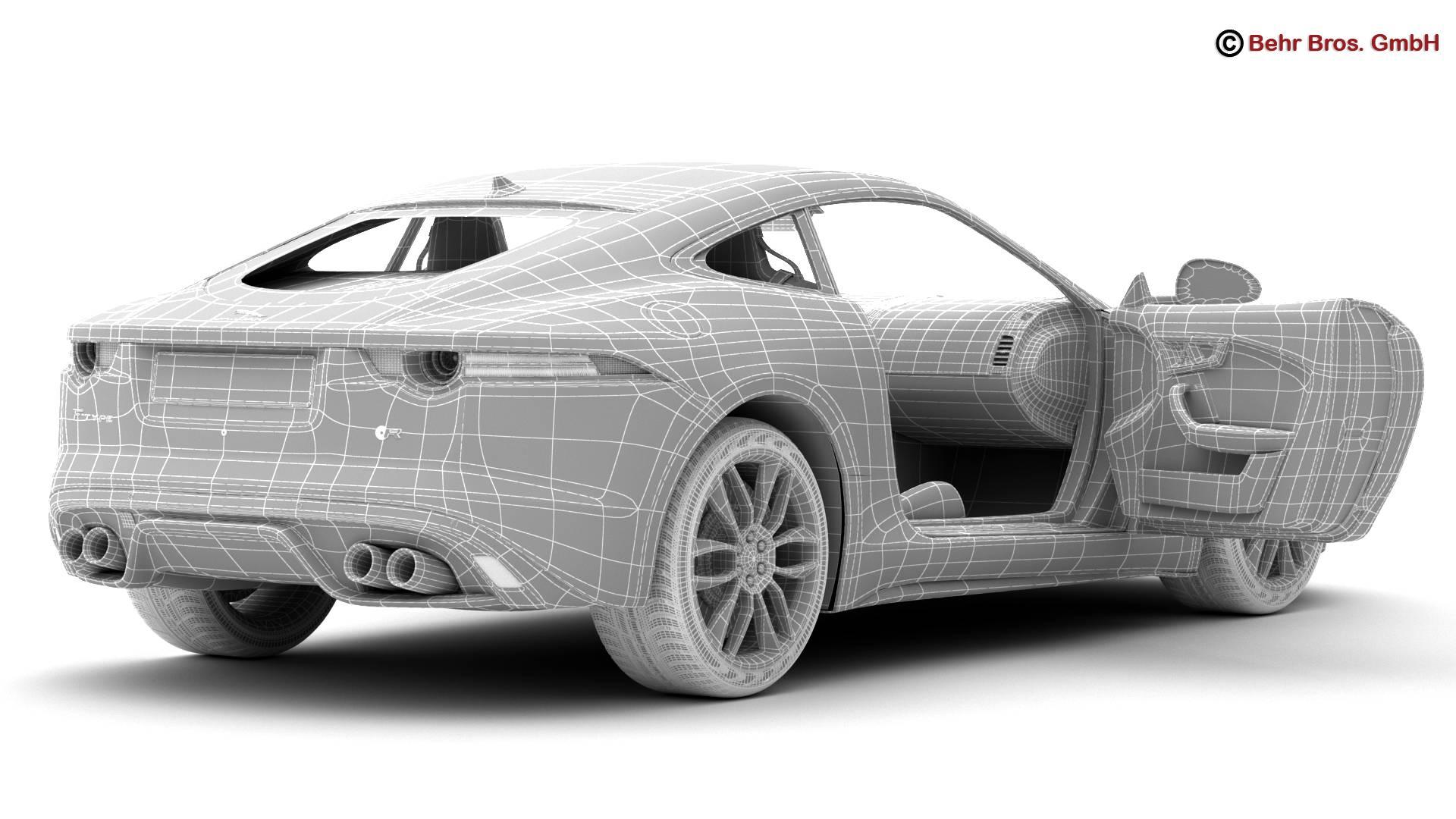 jaguar f type r coupe 2015 3d model 3ds max fbx c4d lwo ma mb obj 212084