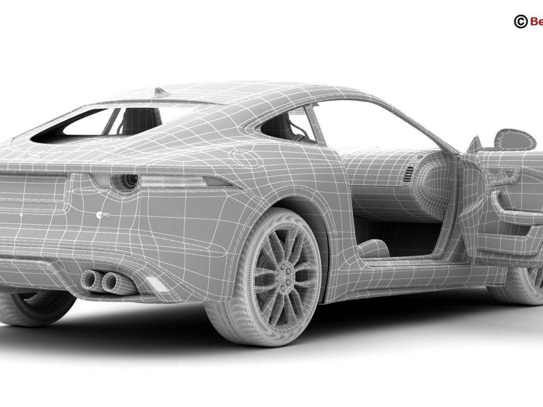 Jaguar F Type R Coupe 2015 3d model 3ds max fbx c4d lwo lws lw ma mb obj