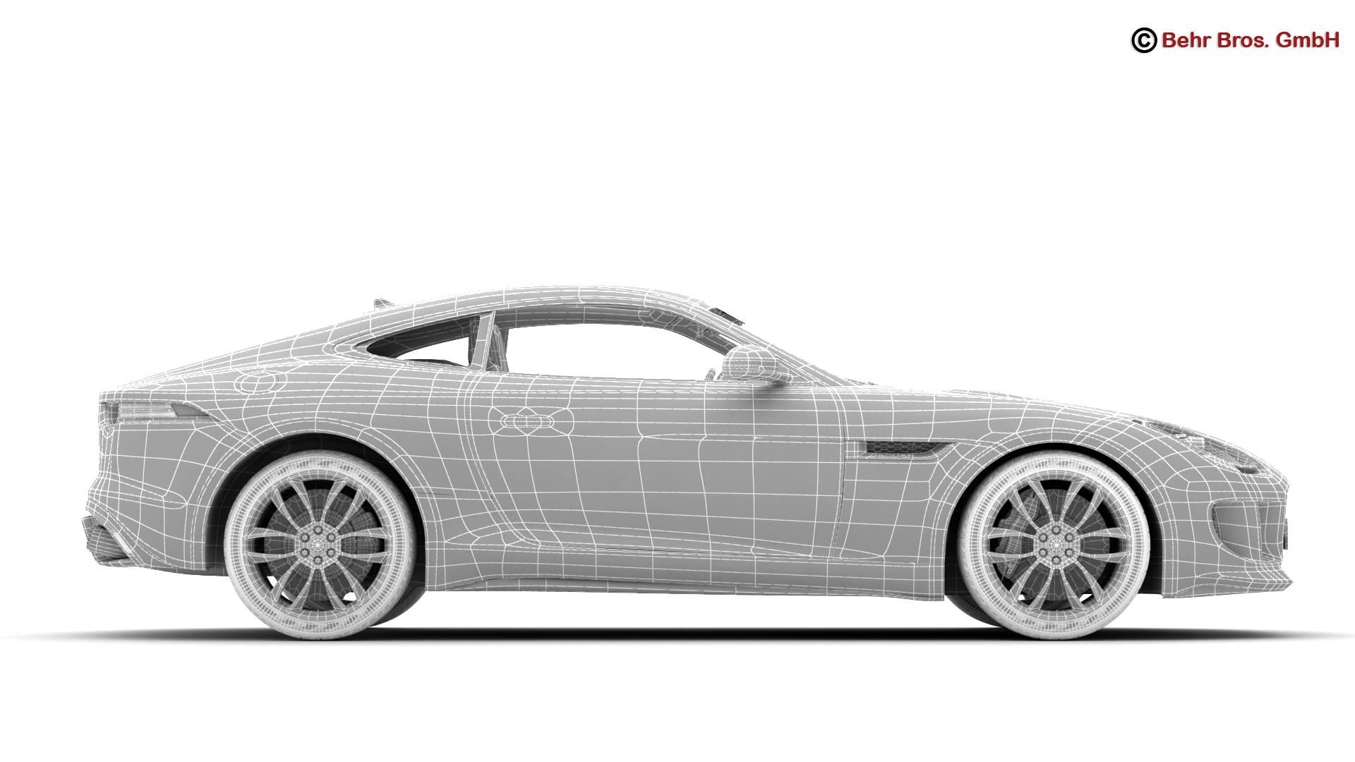 jaguar f type r coupe 2015 3d model 3ds max fbx c4d lwo ma mb obj 212085