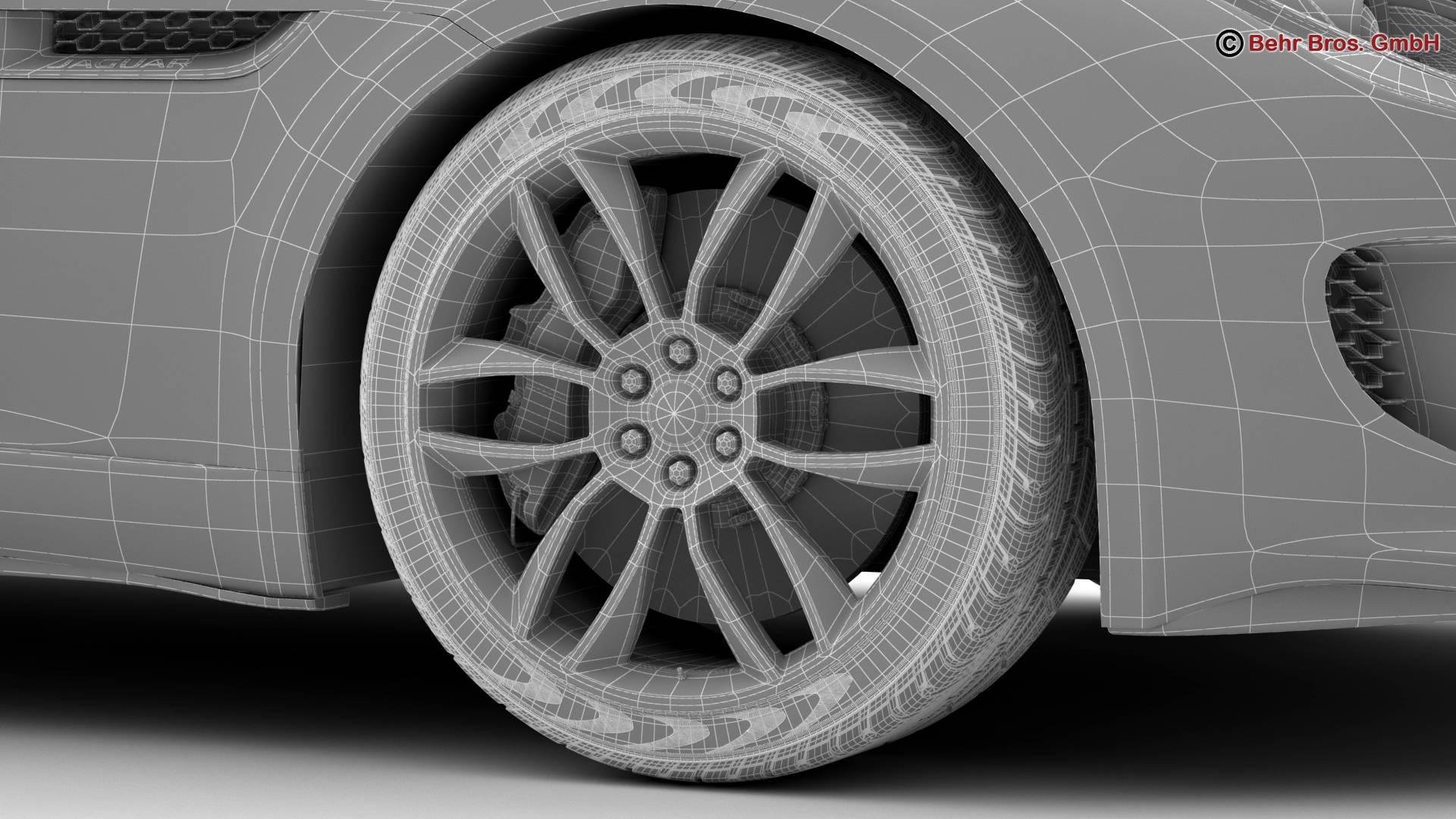 jaguar f type r coupe 2015 3d model 3ds max fbx c4d lwo ma mb obj 212088