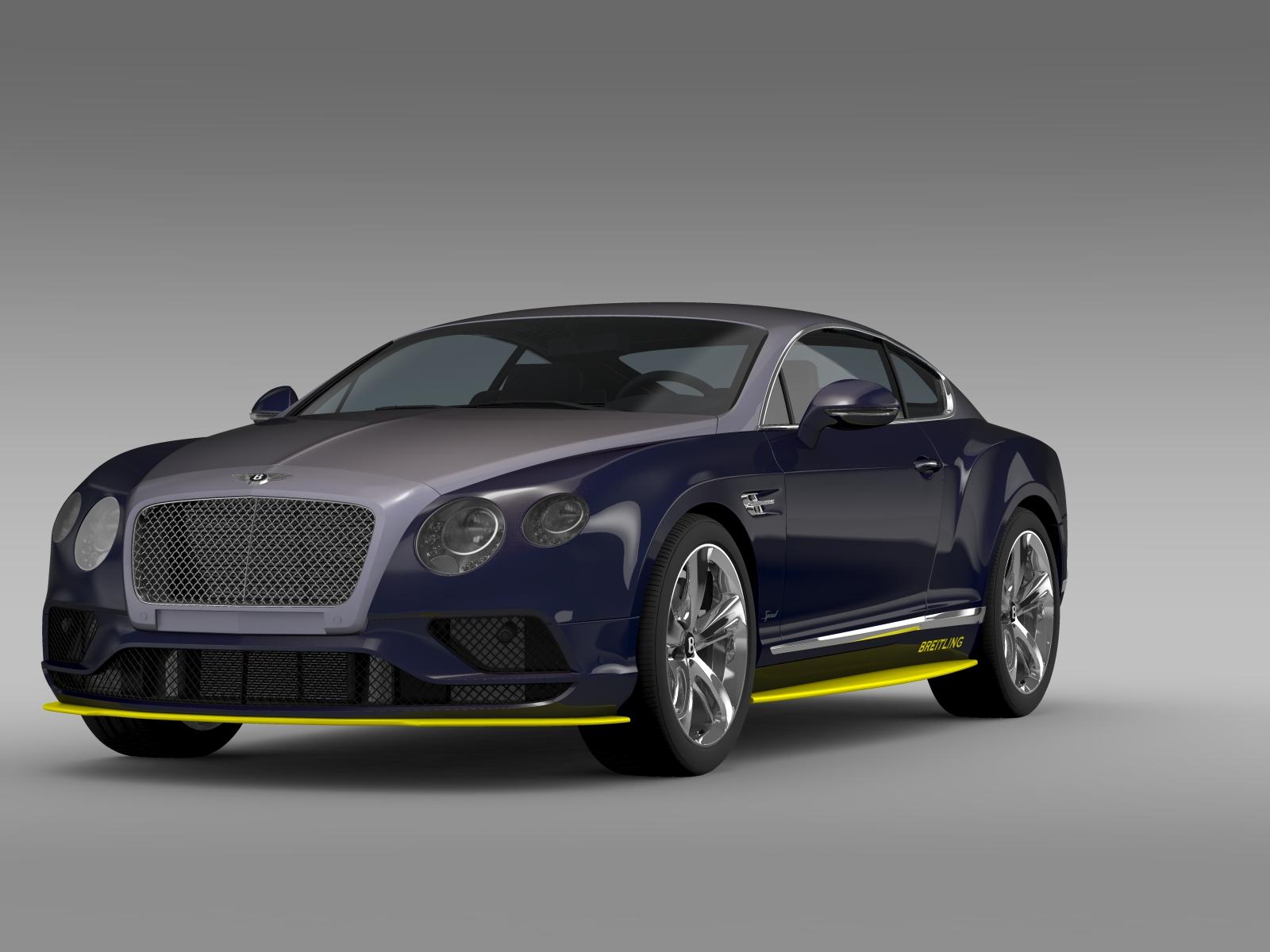 Bentley Continental GT Speed Breitling Jet Team Se 3D Model – Buy ...