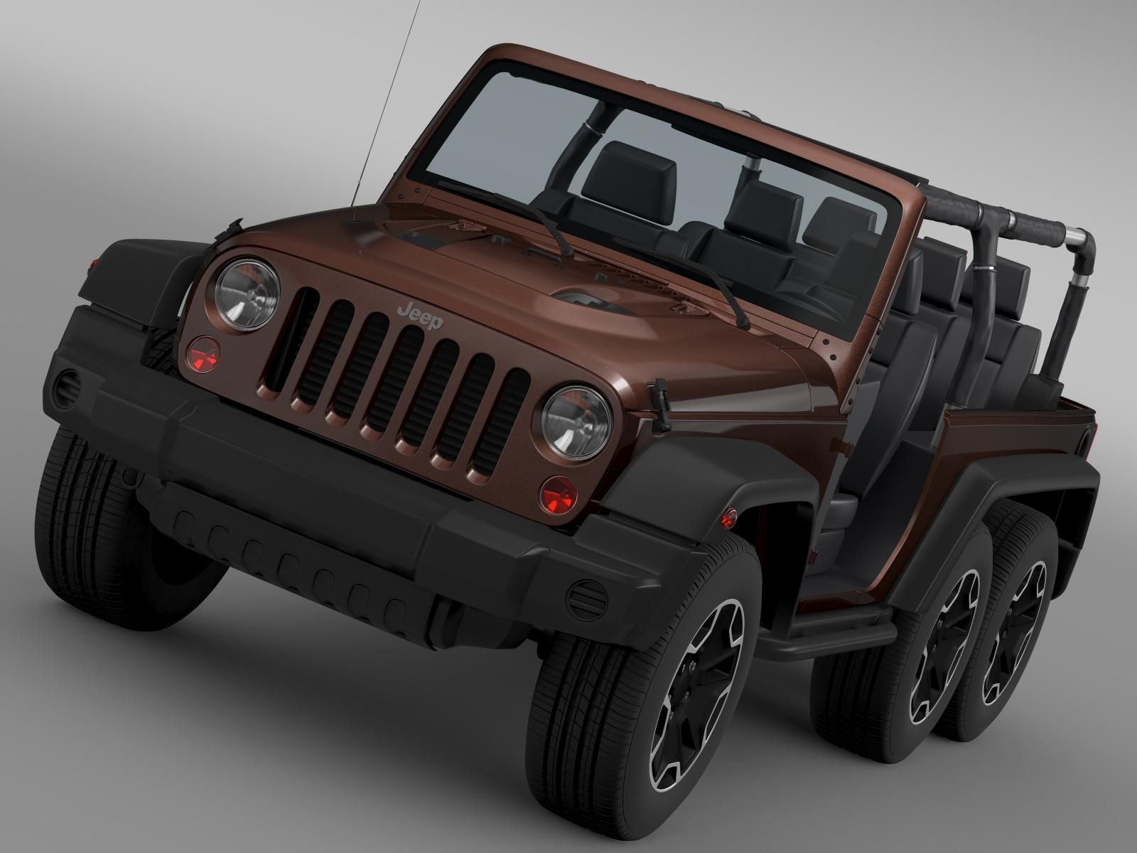 jeep wrangler rubicon 6×6 2016 3d model 3ds max fbx c4d lwo ma mb hrc xsi obj 212112