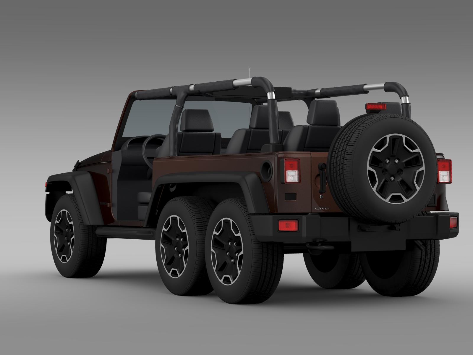jeep wrangler rubicon 6x6 2016 3d model buy jeep. Black Bedroom Furniture Sets. Home Design Ideas