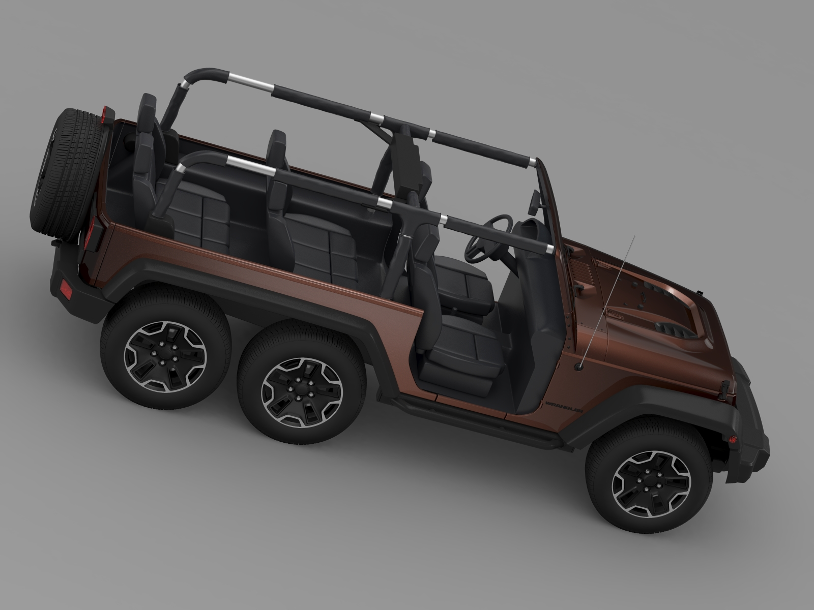 jeep wrangler rubicon 6x6 2016 3d model buy jeep wrangler rubicon 6x6 2016 3d model flatpyramid. Black Bedroom Furniture Sets. Home Design Ideas