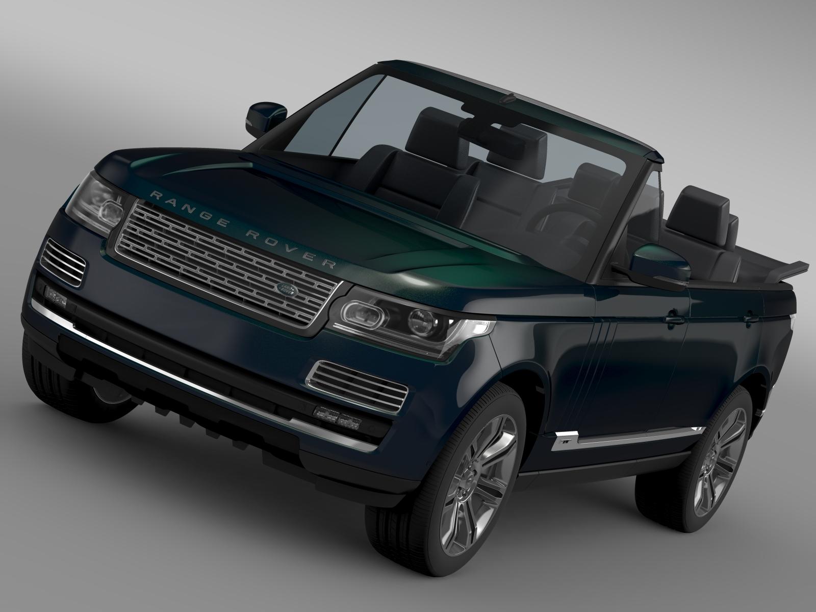 range rover autobiography black lwb cabrio l405 20 3d model 3ds max fbx c4d lwo ma mb hrc xsi obj 212152