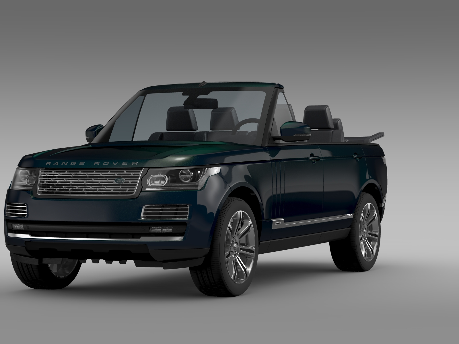 range rover autobiography black lwb cabrio l405 20 3d model buy range rover autobiography. Black Bedroom Furniture Sets. Home Design Ideas