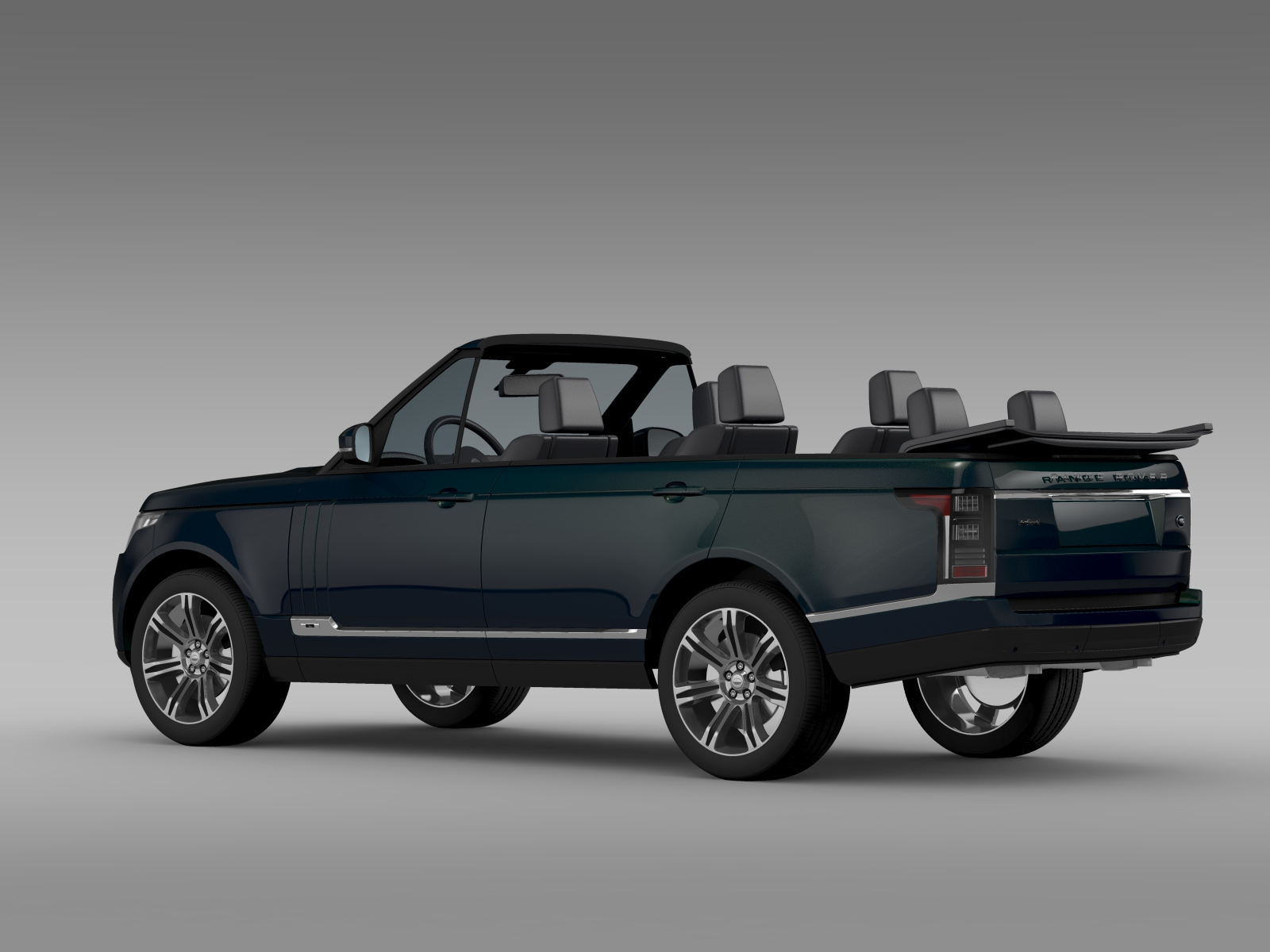 range rover autobiography black lwb cabrio l405 20 3d model buy range rover autobiography. Black Bedroom Furniture Sets. Home Design Ideas