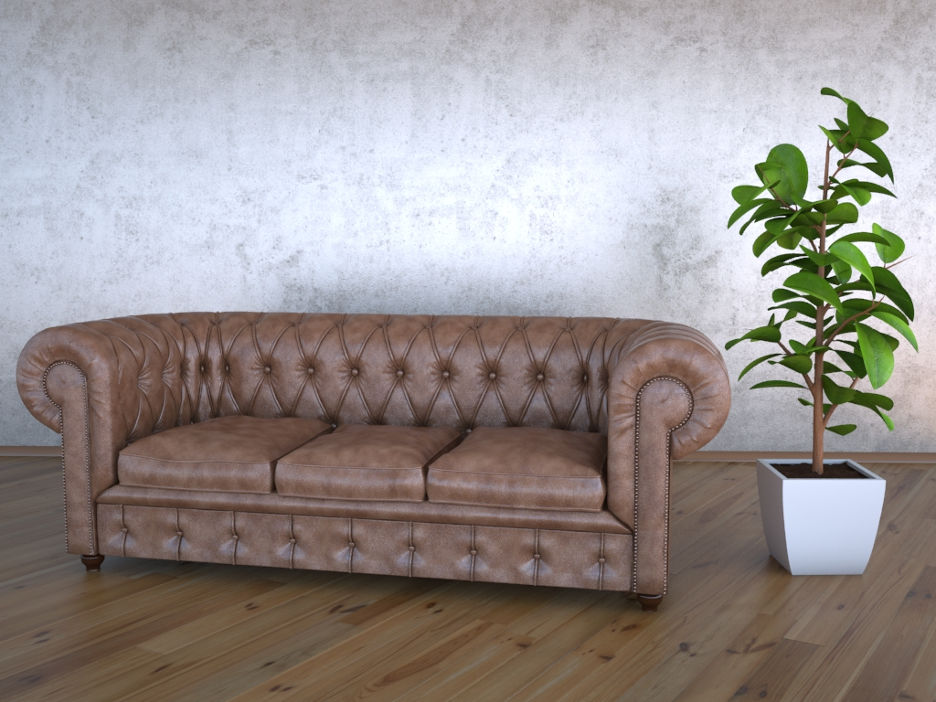 chesterfield kauč 3d model max jpeg jpg obj 212172