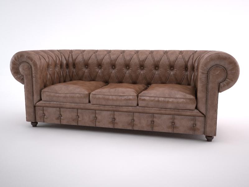 chesterfield sofa 3d model max jpeg jpg obj 212173