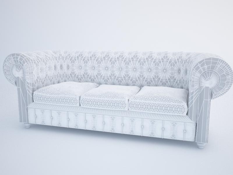 chesterfield dīvāns 3d modelis max jpeg jpg obj 212178