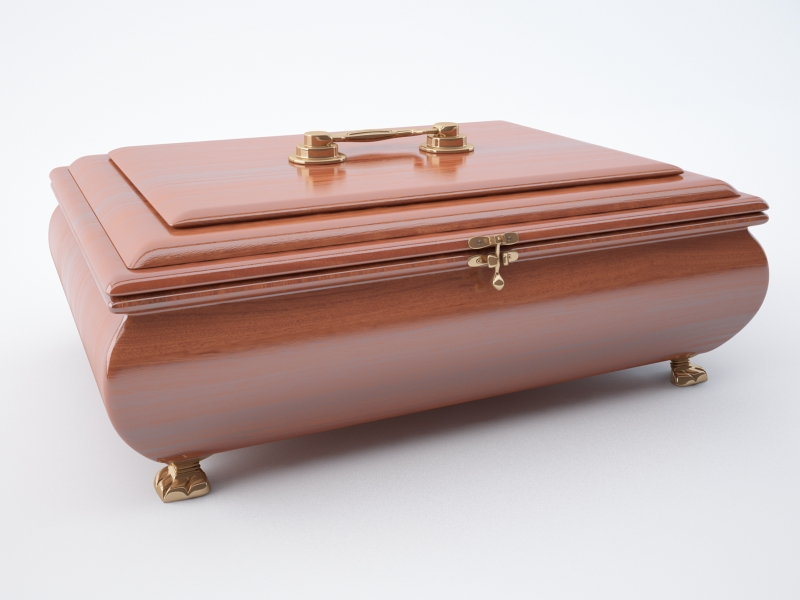 jewellery casket 3d model max jpeg jpg obj 212191