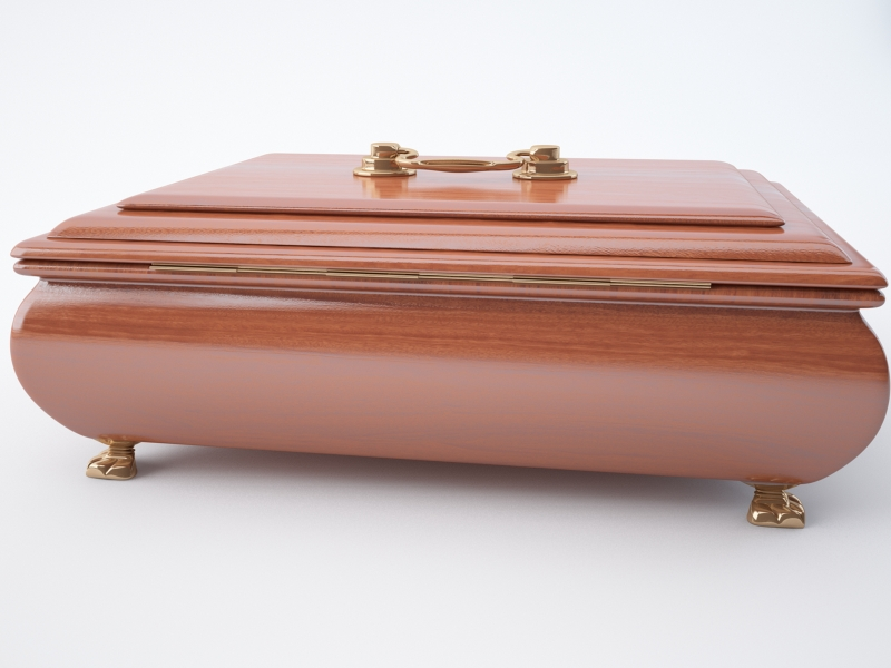 jewellery casket 3d model max jpeg jpg obj 212192