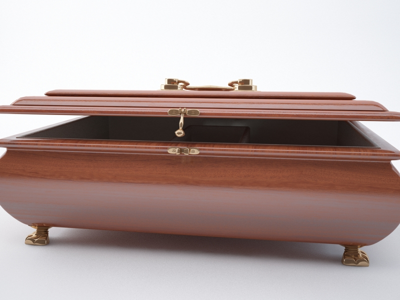 jewellery casket 3d model max jpeg jpg obj 212198