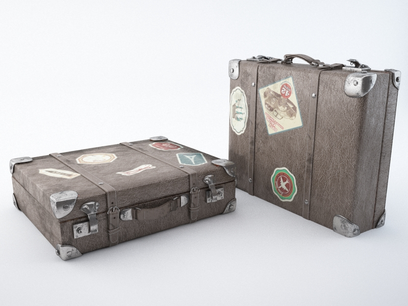 travel suitcase 3d model max jpeg jpg obj 212217