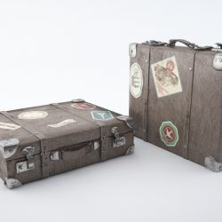 Travel suitcase 3d model 0