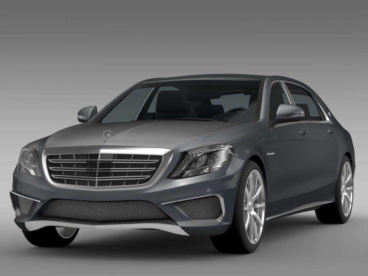 amg mercedes maybach x222 2015 3d model 3ds max fbx c4d lwo ma mb hrc xsi obj 212248
