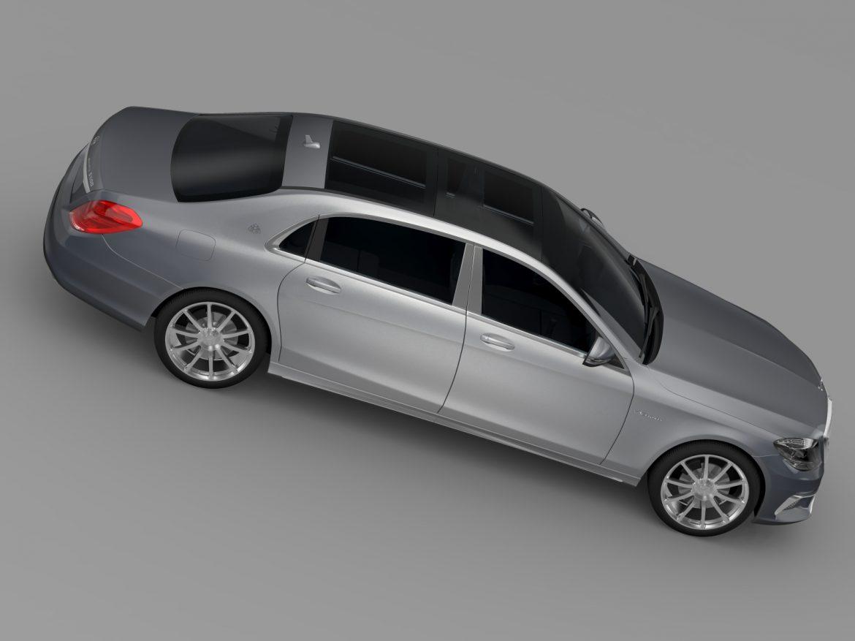 amg mercedes maybach x222 2015 model 3d 3ds max fbx c4d am fwy o wybodaeth xNUMX