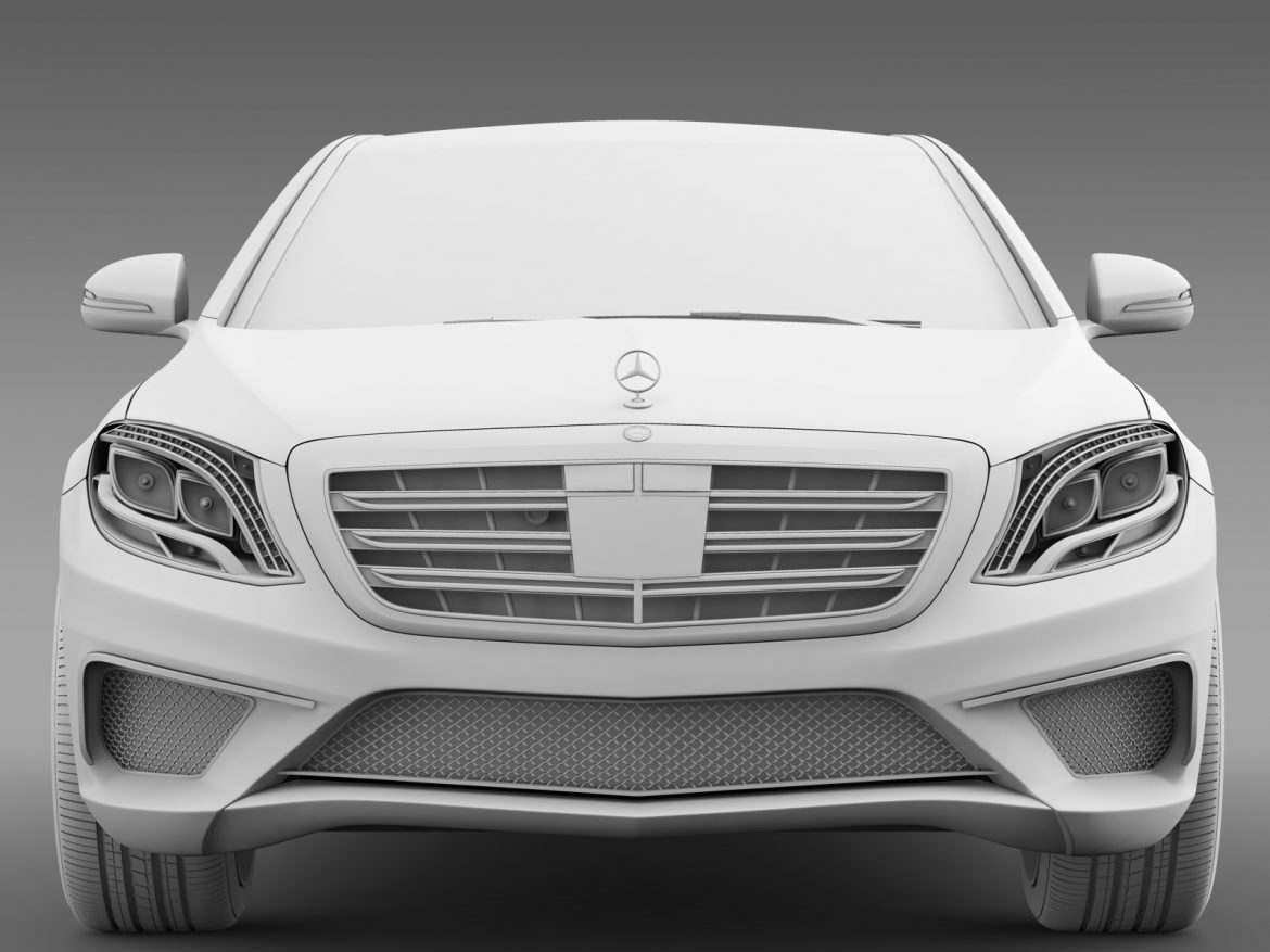 amg mercedes maybach x222 2015 3d model 3ds max fbx c4d lwo ma mb hrc xsi obj 212258