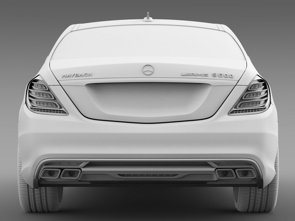 amg mercedes maybach x222 2015 3d model 3ds max fbx c4d lwo ma mb hrc xsi obj 212259