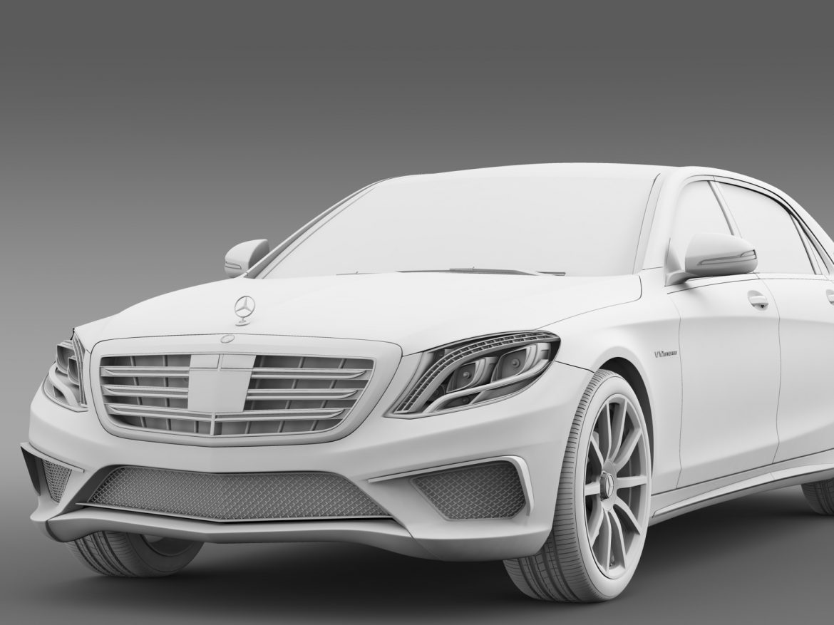 amg mercedes maybach x222 2015 3d model 3ds max fbx c4d lwo ma mb hrc xsi obj 212260