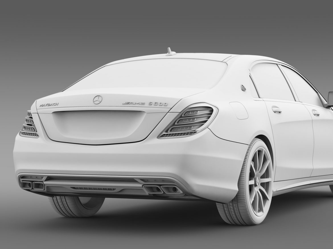 amg mercedes maybach x222 2015 3d model 3ds max fbx c4d lwo ma mb hrc xsi obj 212261