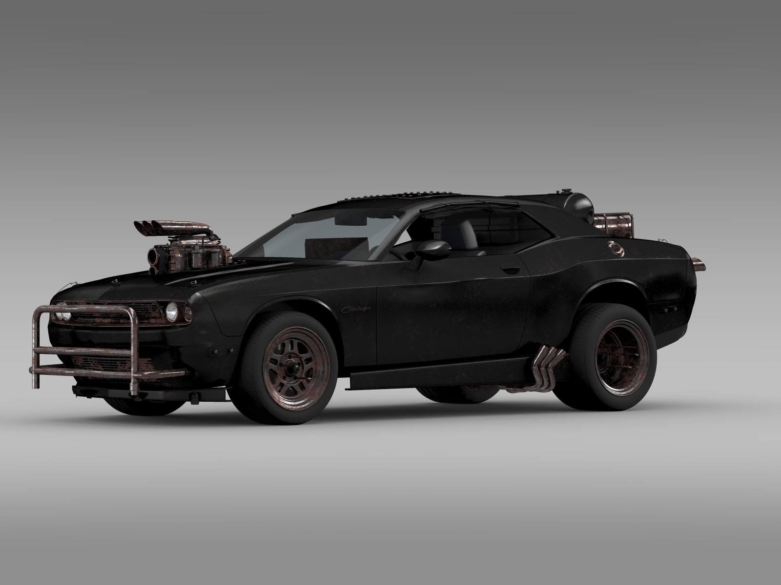 Mad Max Dodge Challenger >> Mad Max Fight Interceptor Dodge Challenger 2015 3d Model