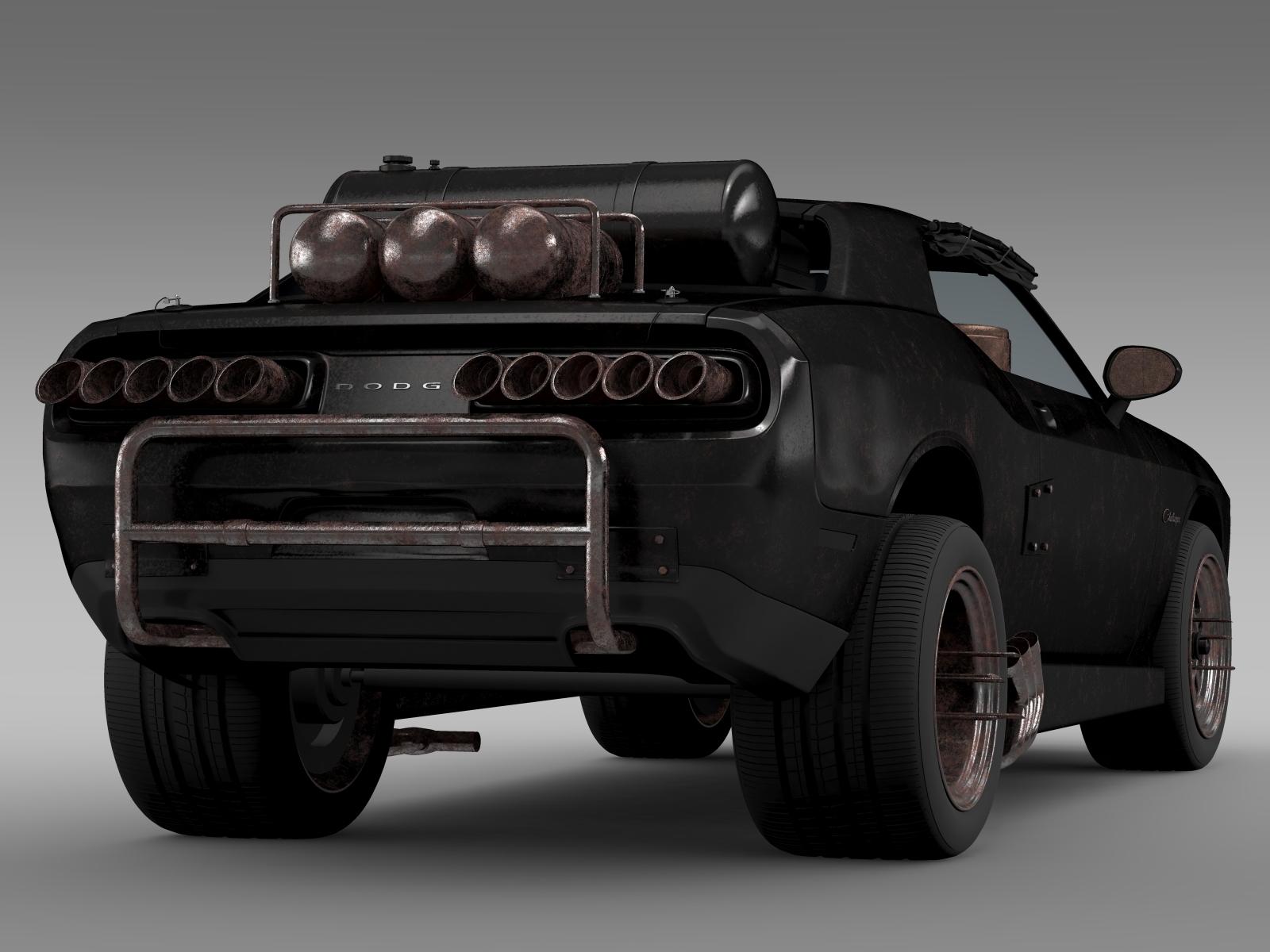 dodge challenger interceptor Mad Max Fight Interceptor Dodge Challenger 2015 3D Model