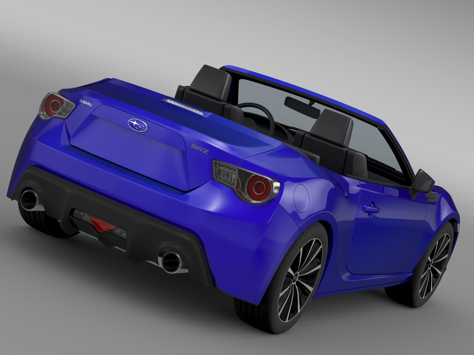 subaru brz zc6 cabrio 2015 3d model buy subaru brz zc6 cabrio 2015 3d model flatpyramid. Black Bedroom Furniture Sets. Home Design Ideas
