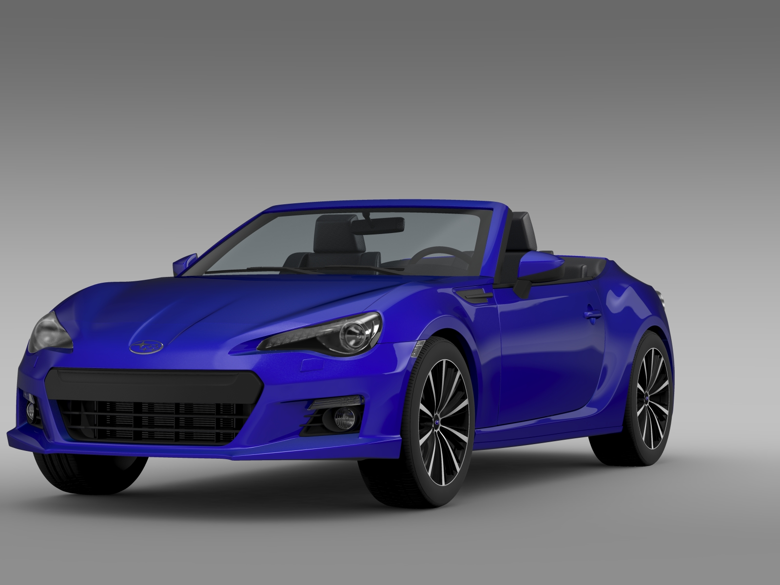 subaru brz zc6 cabrio 2015 3d model. Black Bedroom Furniture Sets. Home Design Ideas