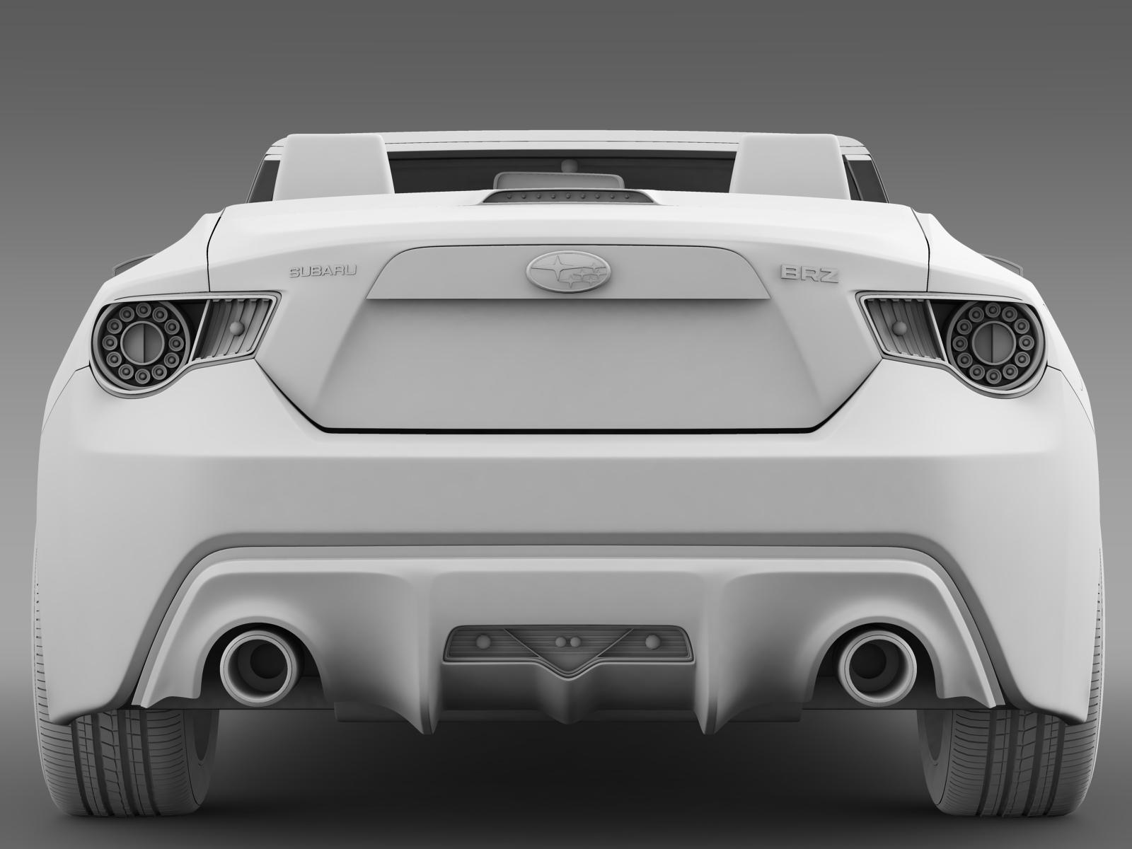 Subaru BRZ ZC6 Cabrio 2015 3D Model - FlatPyramid
