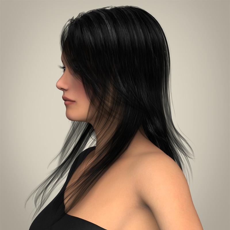 realistic beautiful pretty girl 3d model 3ds max fbx c4d lwo ma mb texture obj 212327