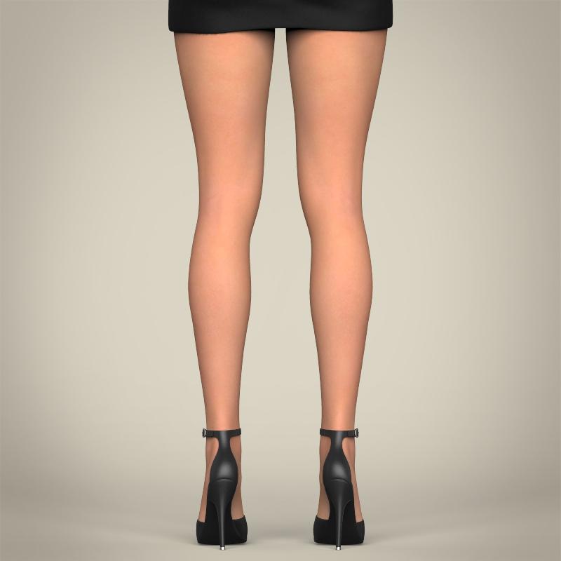 realistic beautiful pretty girl 3d model 3ds max fbx c4d lwo ma mb texture obj 212336