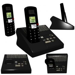 Cordless Phone 3d model 0