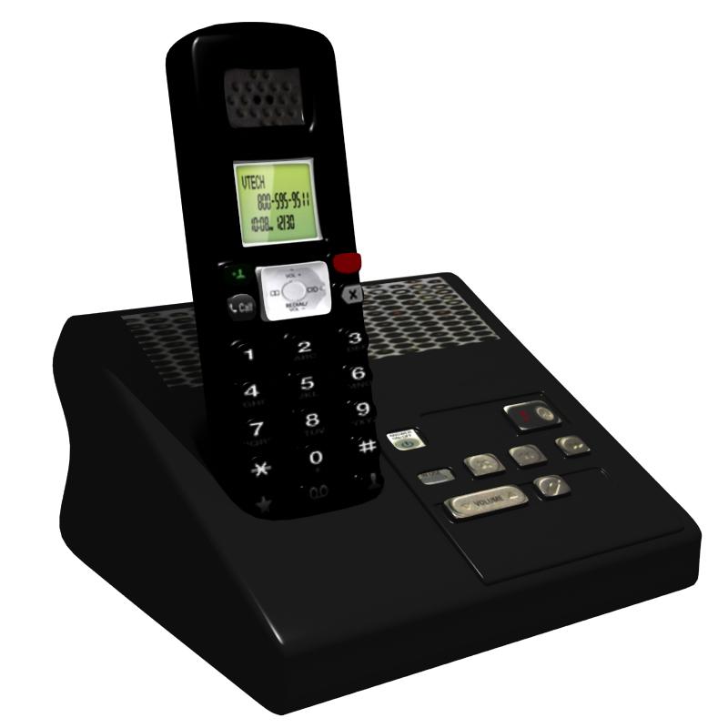 безжичен телефон 3d модел OBJ 212359