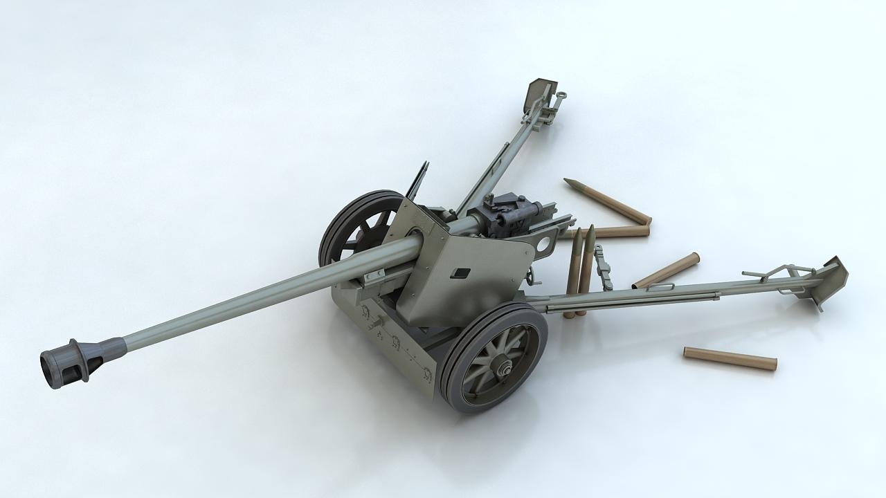 Pak 40 3D Model
