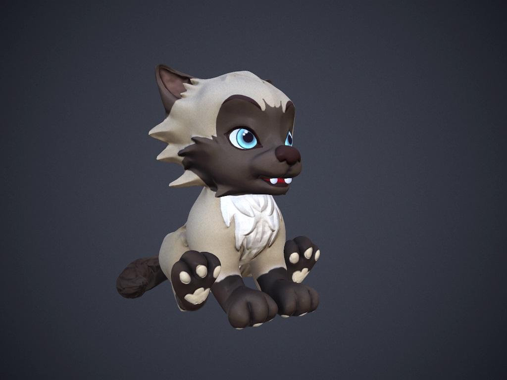 cartoon talking cat 3d model max fbx 212378