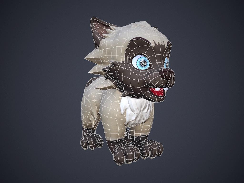 cartoon talking cat 3d model max fbx 212379