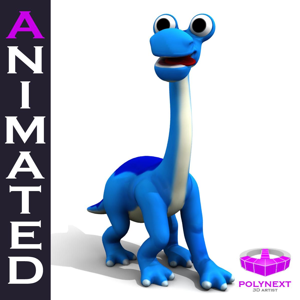 Cartoon Diplodocus 3d model max fbx obj 212386
