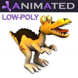 Cartoon Tyrannosaurus 3d model 0