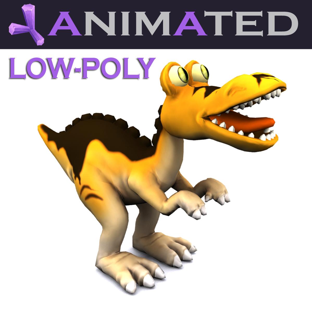 Cartoon Tyrannosaurus 3d model max fbx obj 212426