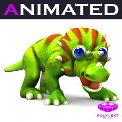 Cartoon Triceratops 3d model 0