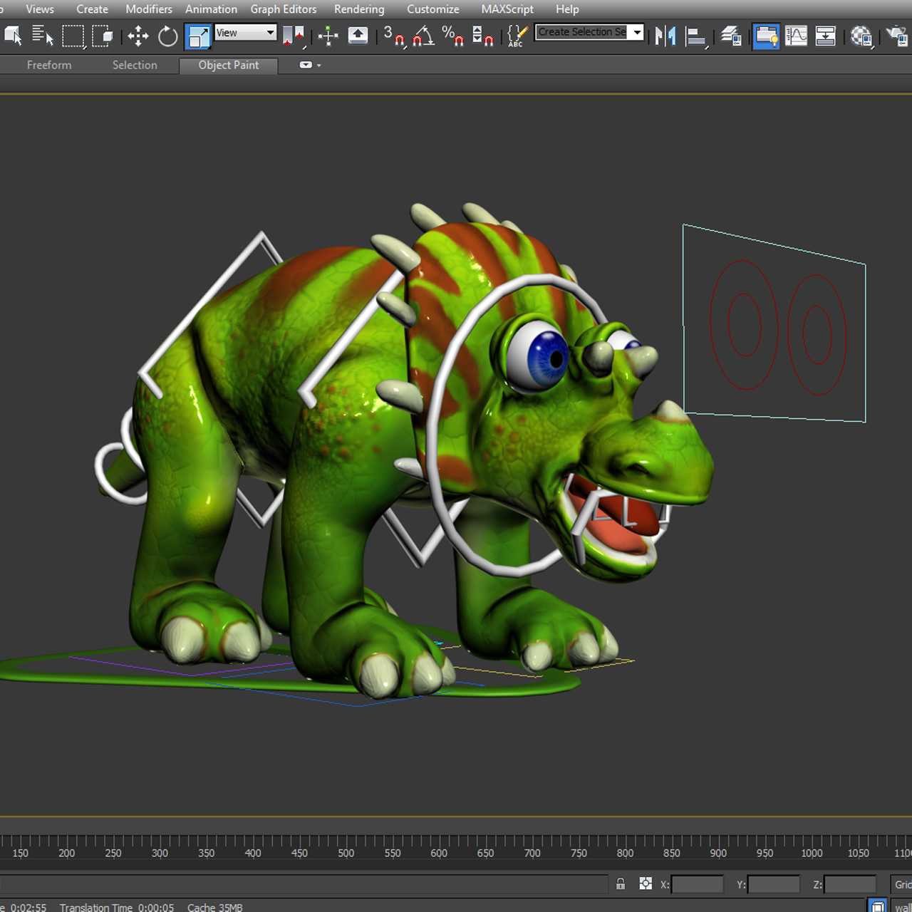 cizgi triceratops 3d model max fbx obj 212435